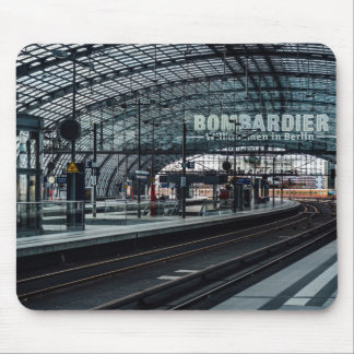 The train is coming mouse pad
