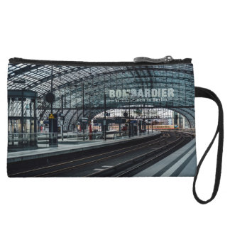The train is coming wristlet wallet