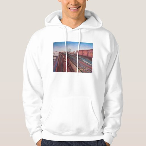 The Train Tracks To the Bronx Hooded Pullover