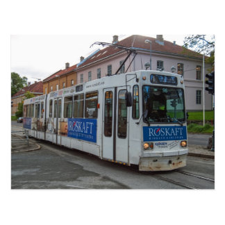 """The tram in Trondheim, """"Graakallbanen"""" Postcard"""