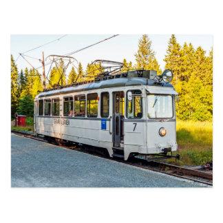 The tram in Trondheim. Vintage car No. 7 at Lian Postcard
