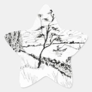 The Tranquil Fisherman Star Sticker