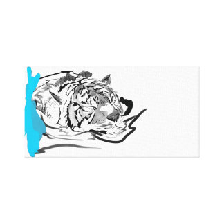 The Tranquil Tiger Canvas Print