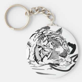 The Tranquil Tiger Keychain