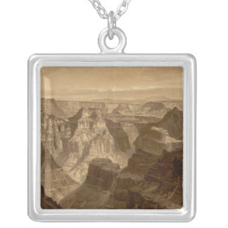 The Transept, Kaibab Division, Grand Canyon Silver Plated Necklace