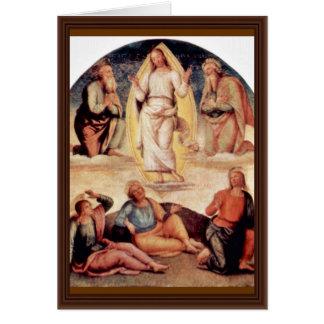 The Transfiguration By Perugino Pietro Cards