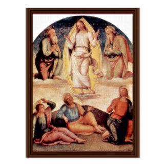 The Transfiguration By Perugino Pietro Postcard