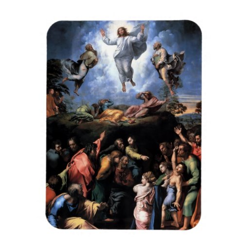 The Transfiguration Fine art Rectangular Magnets