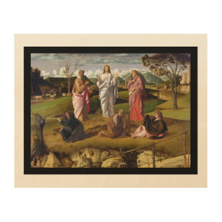 The Transfiguration of Christ Bellini Wood Wall Art