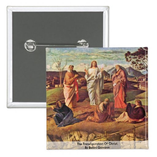 The Transfiguration Of Christ, By Bellini Giovanni 2 Inch Square Button