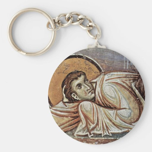 The Transfiguration Of Christ  By Meister Von Nere Basic Round Button Keychain