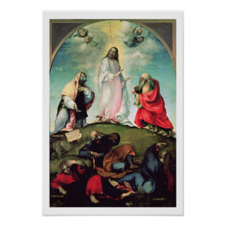 The Transfiguration of Christ, c.1510-12 (oil on p Poster