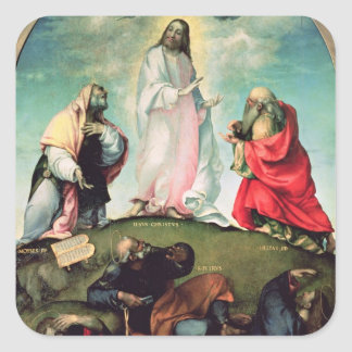 The Transfiguration of Christ, c.1510-12 (oil on p Square Sticker