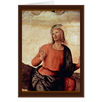 The Transfiguration Of Christ Detail By Perugino Greeting Cards