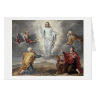 The Transfiguration (oil on copper) Greeting Card