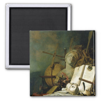 The Transience of All Earthly Things , c.1660 2 Inch Square Magnet