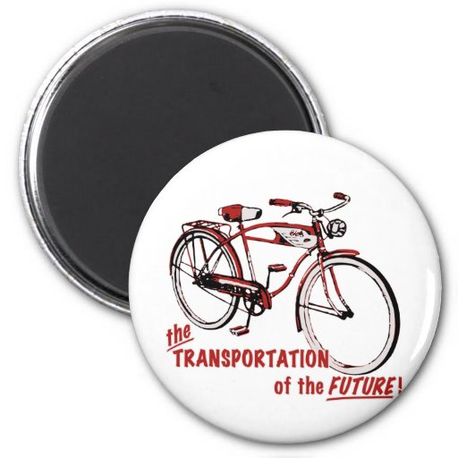 The Transportation of the Future 2 Inch Round Magnet