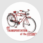The Transportation of the Future Classic Round Sticker