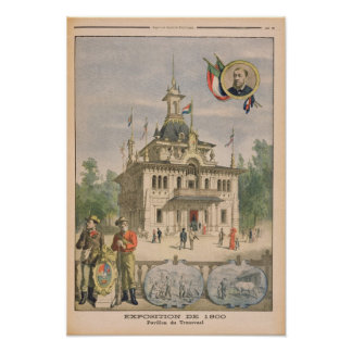 The Transvaal pavilion at the Universal Poster