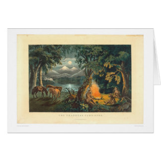 The Trapper's Camp-fire 1866 (1779A) Greeting Card