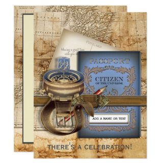 The Traveler Farewell Party Invitations