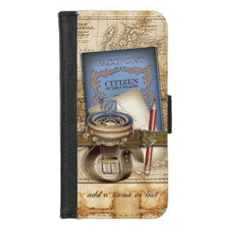 The Traveler Personalized iPhone 8/7 Wallet Case