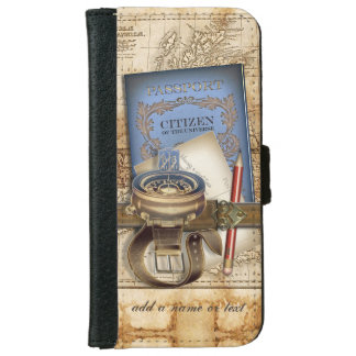The Traveler Personalized Wallet Phone Case For iPhone 6/6s