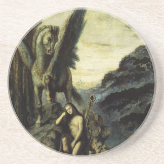 The Traveler Poet by Gustave Moreau Drink Coaster