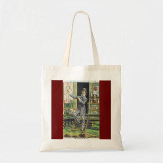 """The Traveling Quack"" Snake Oil Salesman Tote Bags"
