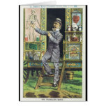 """""""The Traveling Quack"""" Snake Oil Salesman Greeting Card"""