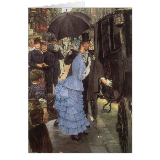 The Traveller (aka Bridesmaid) by James Tissot Card