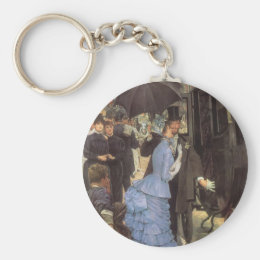 The Traveller (aka Bridesmaid) by James Tissot Keychain