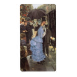 The Traveller (aka Bridesmaid) by James Tissot Personalized Shipping Label