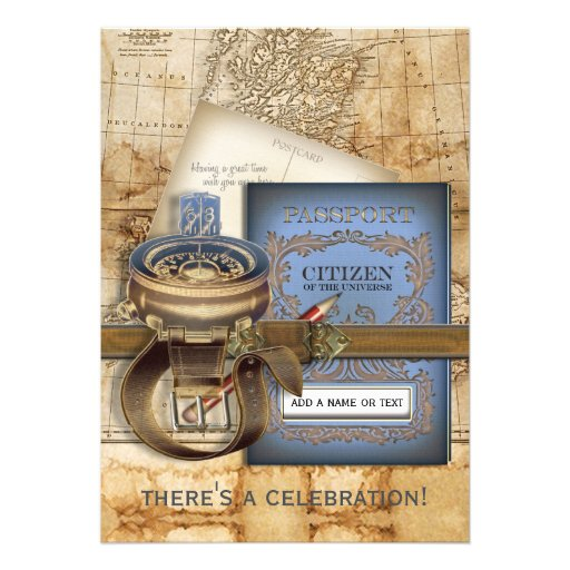 The Traveller Large Party Invitations