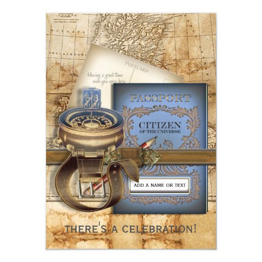 The Traveller Medium Party Invitations