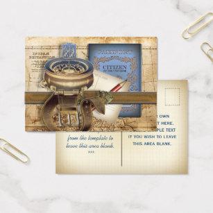 Passport business cards templates zazzle the traveller mini postcard business card colourmoves