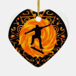 THE TRE FLIP Double-Sided HEART CERAMIC CHRISTMAS ORNAMENT