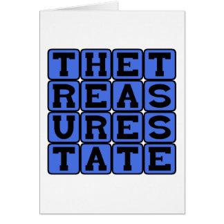 The Treasure State, Montana Nickname Card