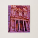 """The Treasury at Petra Jigsaw Puzzle<br><div class=""""desc"""">An up close view of the historic Treasury building in Petra,  Jordan.</div>"""