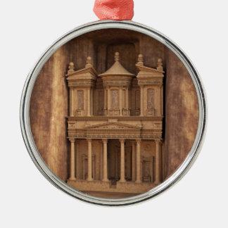 The Treasury of Petra, Jordan Metal Ornament