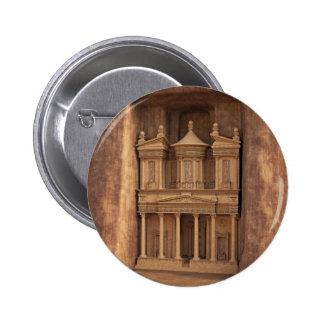 The Treasury of Petra, Jordan Pinback Button