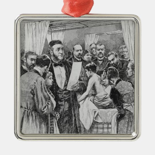The treatment of tuberculosis metal ornament