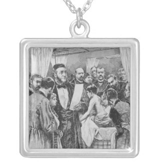 The treatment of tuberculosis square pendant necklace