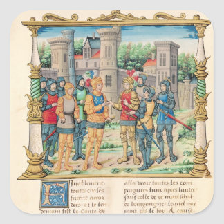 The Treaty of Conflans Square Sticker