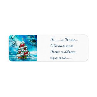 The Tree Christmas Folk Art GIFT Tags or ADDRESS Labels