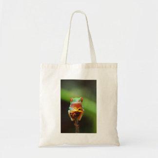 The Tree Frog (Agalychnis Callidryas) In Terrarium Tote Bag