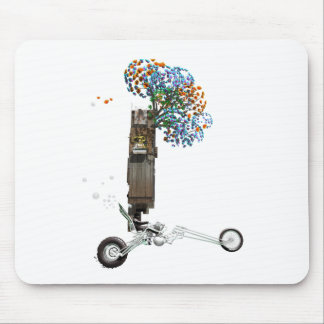 The Tree House Chopper Motorcycle Mouse Pad