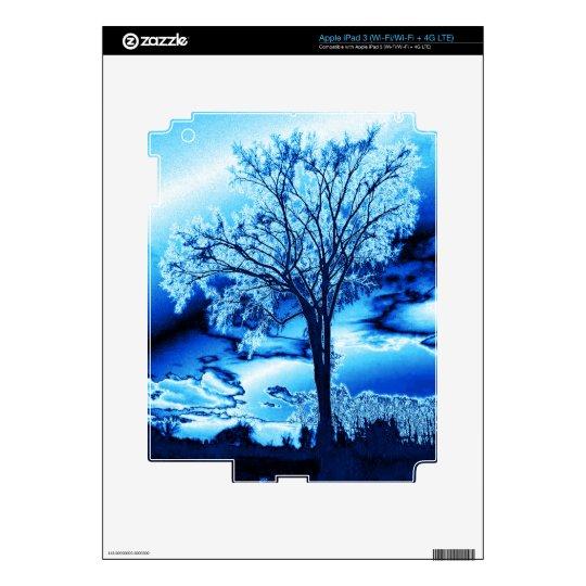 The Tree in Blue Ice iPad 3 Skin