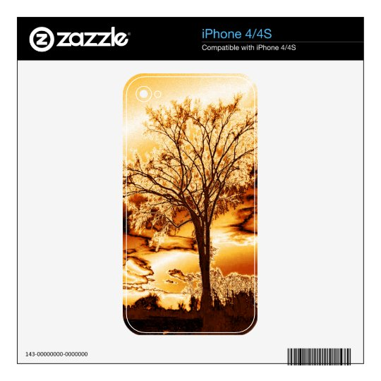The Tree in Molten Gold iPhone 4/4S Skin Skins For iPhone 4S