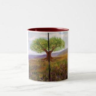 THE TREE -mug Two-Tone Coffee Mug